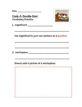 Cook-A-Doodle-Doo Vocabulary Practice