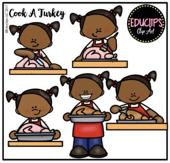 Cook A Turkey Clip Art Bundle {Educlips Clipart}