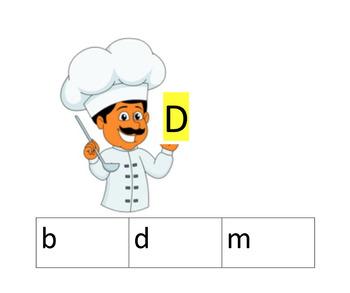 Cook/ Chef Alphabet clip cards