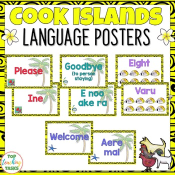 Cook Islands Māori Greetings Introductions Farewells Classroom Display Posters