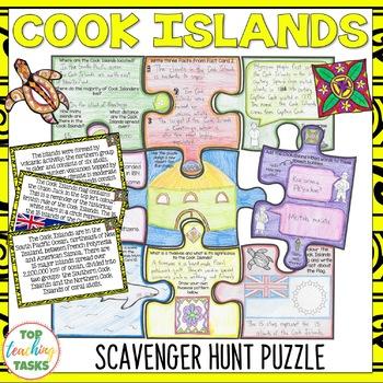 Cook Islands Scavenger Hunt Puzzle Activity