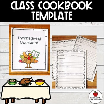 Cookbook Template-Writing Activity