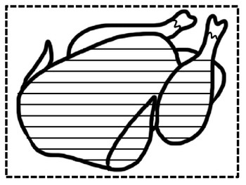 Cooked Turkey Writing Template By Wonderfulworksheets123 Tpt