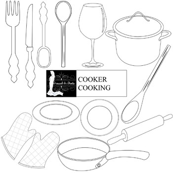 Cooker Cooking Clip Art Set