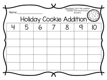 Cookie Addition & Subtraction Sort (BUNDLE)