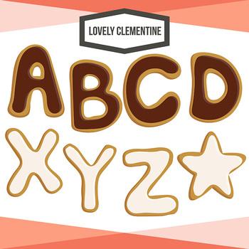 Cookie Alphabet Clip Art  - Lovely Clementine