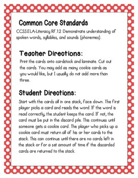 Cookie Baking Phonics: CVC Words Pack