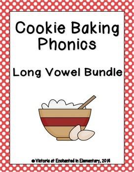 Cookie Baking Phonics: Long Vowel Bundle