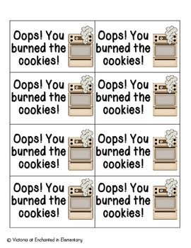 Cookie Baking Phonics: Vowel Digraphs and Diphthongs Pack 1: ow, ou, oo, ew
