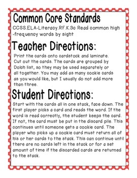 Cookie Baking Sight Words! First Grade Dolch List Edition