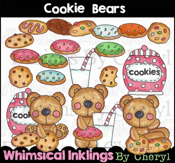 Cookie Bears Clipart Collection