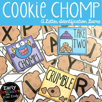 Cookie CHOMP--A Letter Identification Card Game with Tracing Recording Sheets