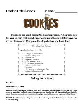 Cookie Calculations