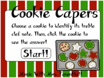 Cookie Capers: Treble Clef Note Identification