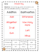 SOL 2.21 Addition and Subtraction Word Problems