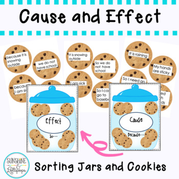 Reading Comprehension: Cookie Cause and Effect for first and Second Grade