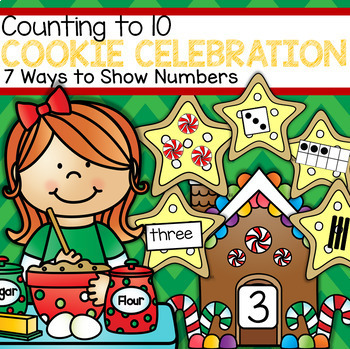 Cookie Celebration Counting to 10 - Seven Ways to Show Numbers
