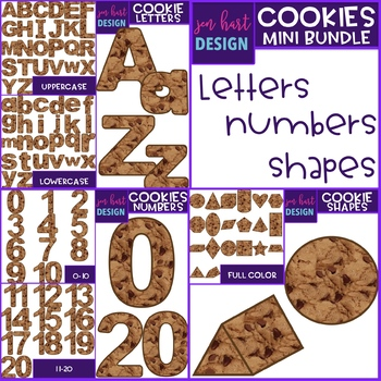 Alphabet Letters, Numbers and Shapes Clip Art -{jen hart Clip Art}