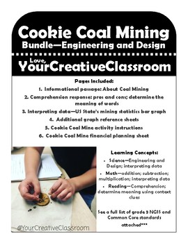 Cookie Coal Mining Activity Pack