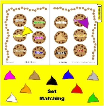 Cookie Colors - Color Matching Game for File Folder Fun