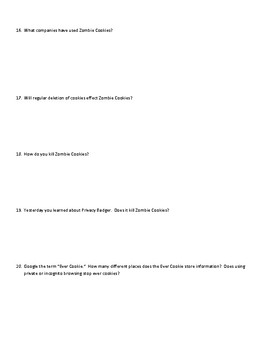 Cookie Controller Worksheet
