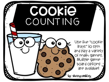 Cookie Counting Numbers 1-5 and 1-10