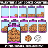 Cookie Counting Clipart (Valentine's Day)