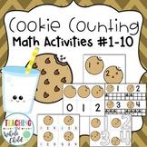 Preschool Math Activities: Cookie Counting Numbers 1-10