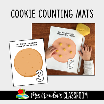 FREE Cookie Counting Mats - Math Activity for Kindergarten