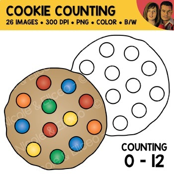 Cookie Counting Scene Clipart