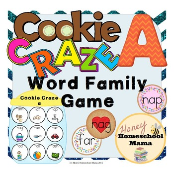 Cookie Craze A - Word Family Game for Word Families with a