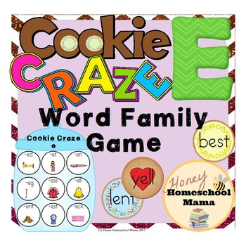 Cookie Craze E - Word Family Game for Word Families with an E Vowel