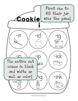 Cookie Craze I - Word Family Game for Word Families with an I Vowel