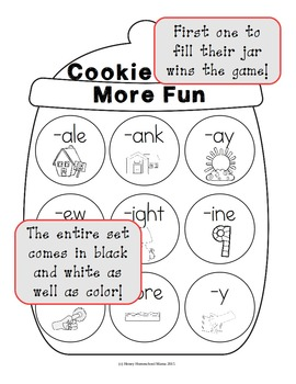 Cookie Craze More Fun - Word Family Game With 9 Word Families