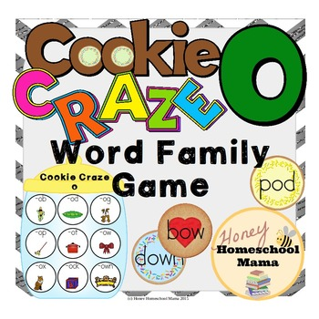 Cookie Craze O - Word Family Game for Word Families with a