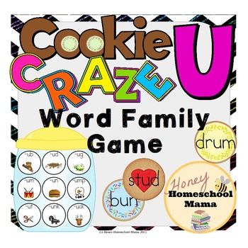 Cookie Craze U - Word Family Game for Word Families with an U Vowel