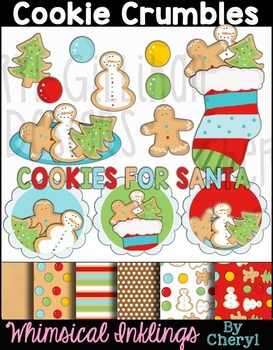 Cookie Crumbles Gingerbread and Cookie Clipart Collection