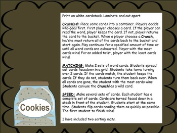 Cookie Crunch! Fry First 100 Word Games
