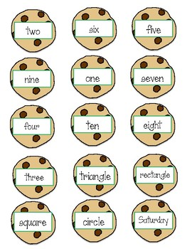 Cookie Crunch Sight Word Game (aligned to 2G Category Words IRLA)
