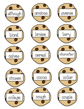 Cookie Crunch Sight Word Game (aligned to Wt IRLA)