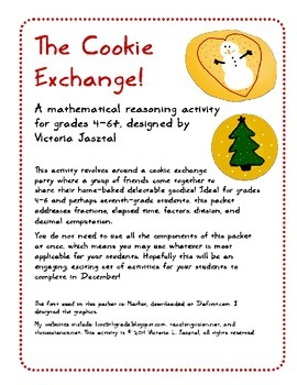 Cookie Exchange Party! A Critical Thinking Math Activity for Grades 4-6+