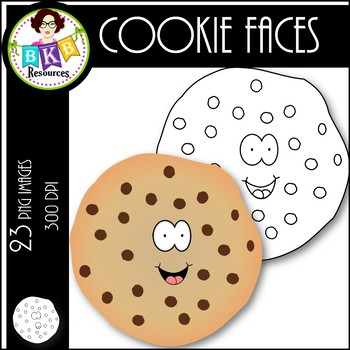 Cookie Faces ● Clip Art ● Products for TpT Sellers