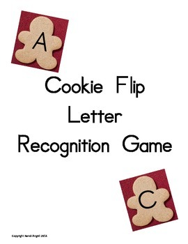 Cookie Flip Letter Recognition Game