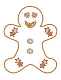 Cookie Food Gingerbread Man Kindergarten Arts Craft Cut Paste Bulletin Board 3pg
