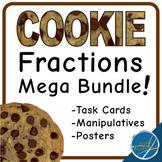 Cookie Fractions Mega Bundle with Task Cards, Manipulative