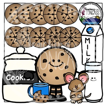Cookie Clipart and Cookie Fractions Clipart