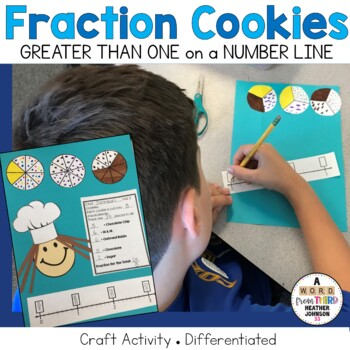 Cookie Fractions Craftivity: Fractions Greater Than One on the Number Line