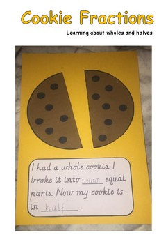 Cookie Fractions- Halves