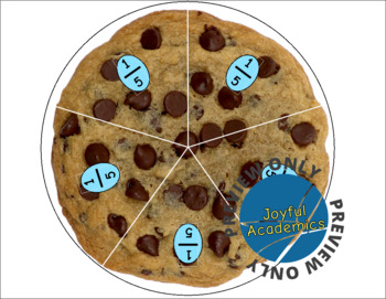 Cookie Fractions Manipulatives
