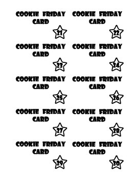 Cookie Friday Cards - Commanding Completion of Assignments